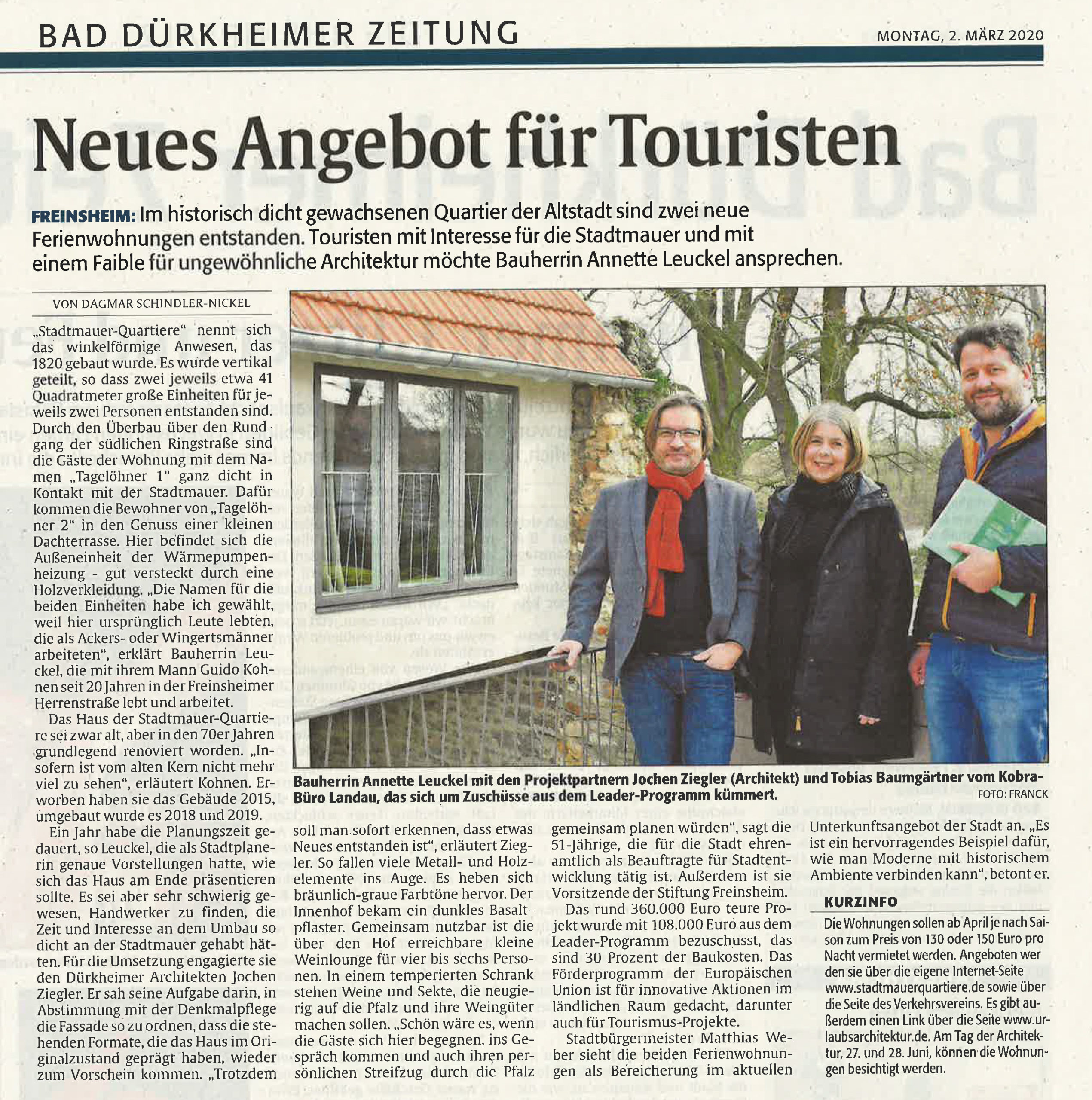 Berichtet in Bad Dürkheimer Zeitung - Rheinpfalz